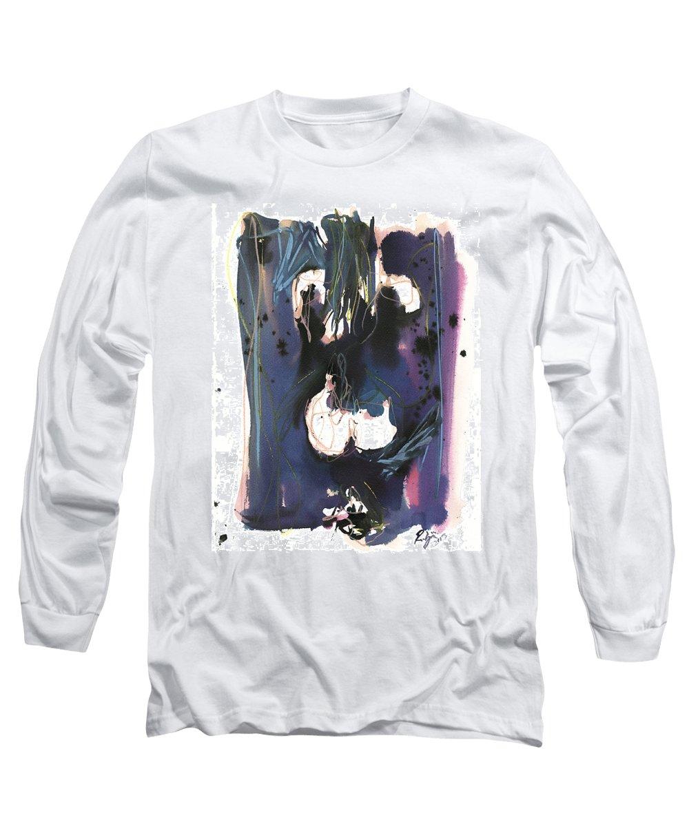 Figure Long Sleeve T-Shirt featuring the painting Kneeling by Robert Joyner