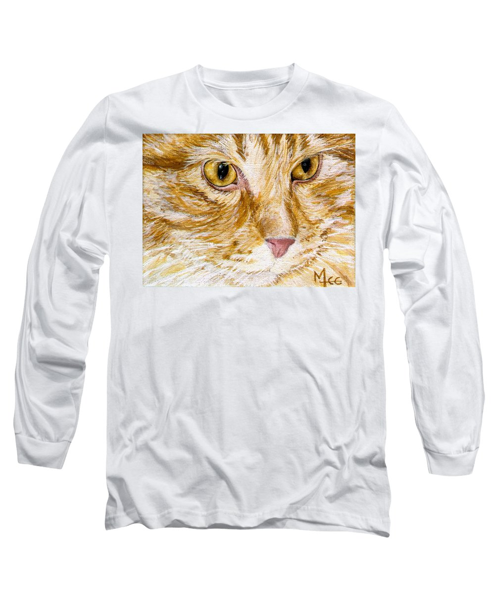 Charity Long Sleeve T-Shirt featuring the painting Leo by Mary-Lee Sanders
