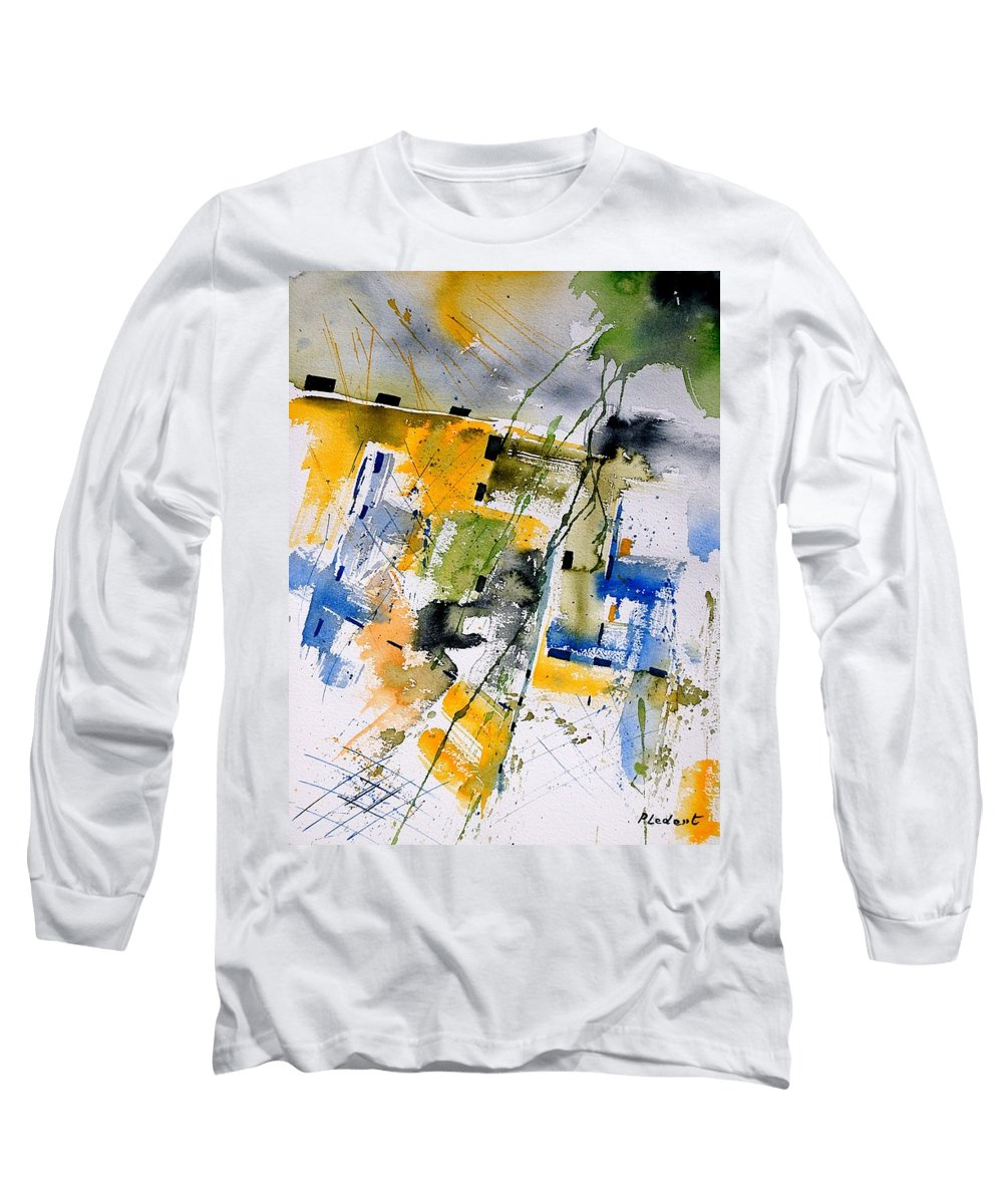 Abstract Long Sleeve T-Shirt featuring the painting Watercolor 161106 by Pol Ledent