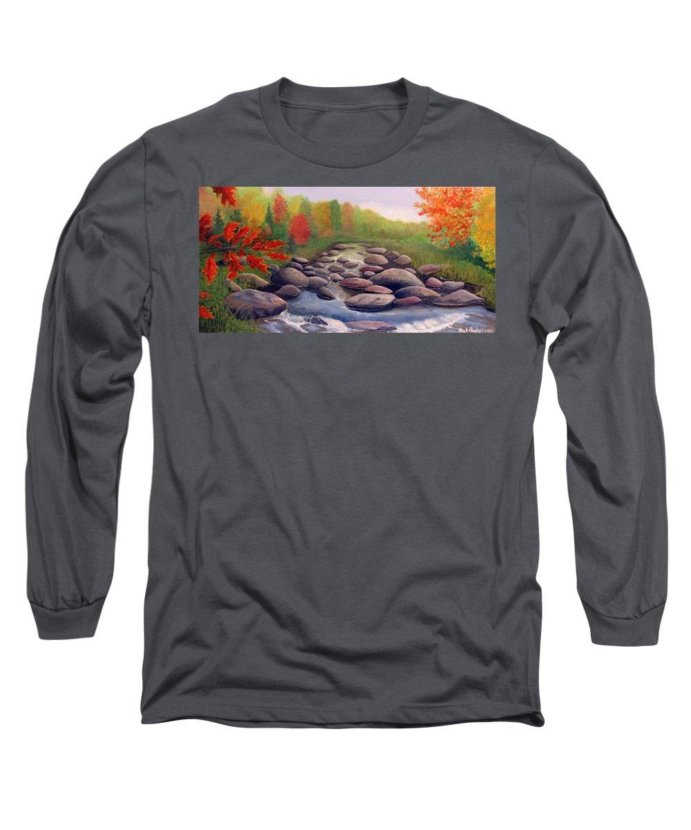 Rick Huotari Long Sleeve T-Shirt featuring the painting Cherokee Park by Rick Huotari