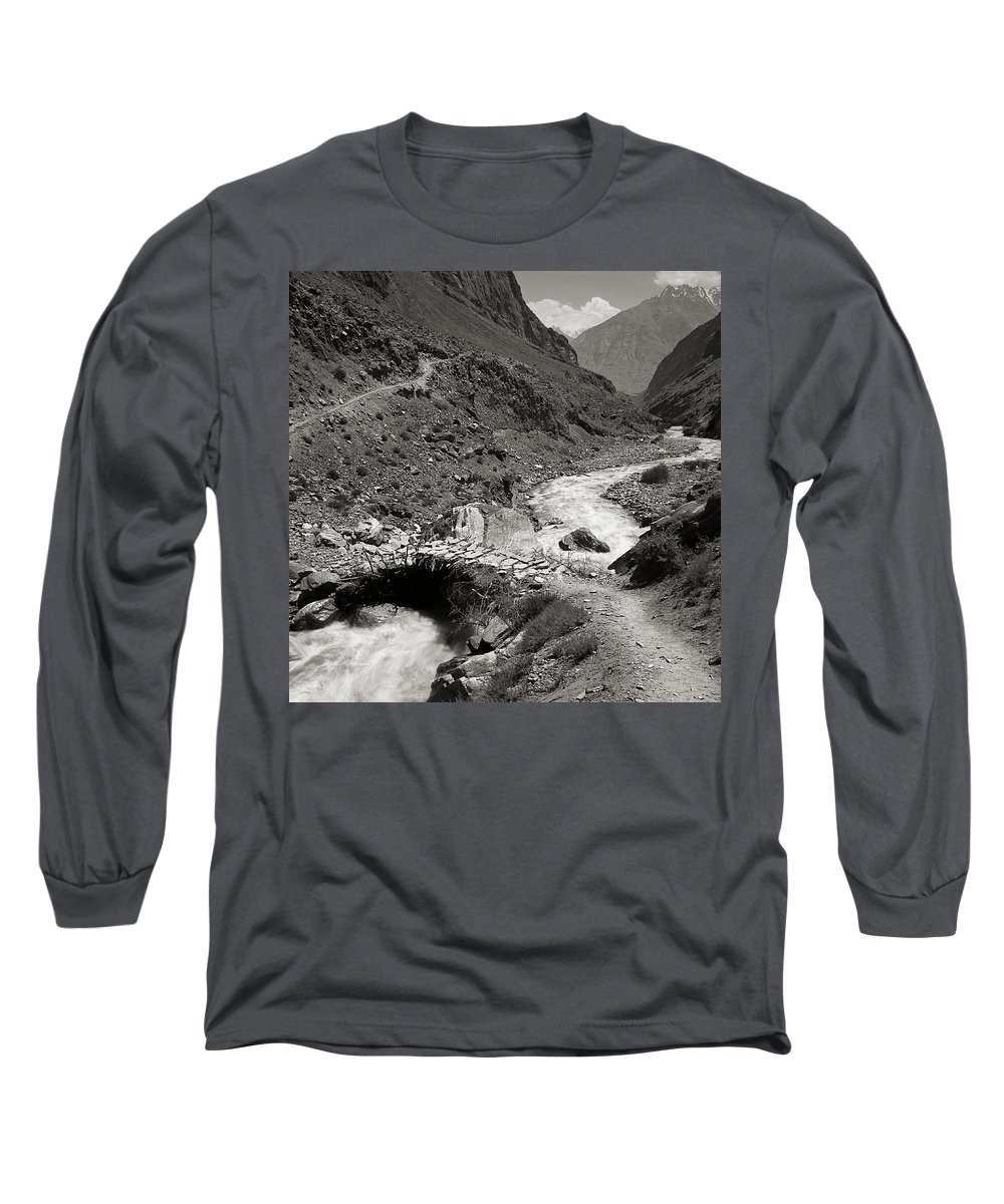 Active Long Sleeve T-Shirt featuring the photograph The Crossing by Konstantin Dikovsky