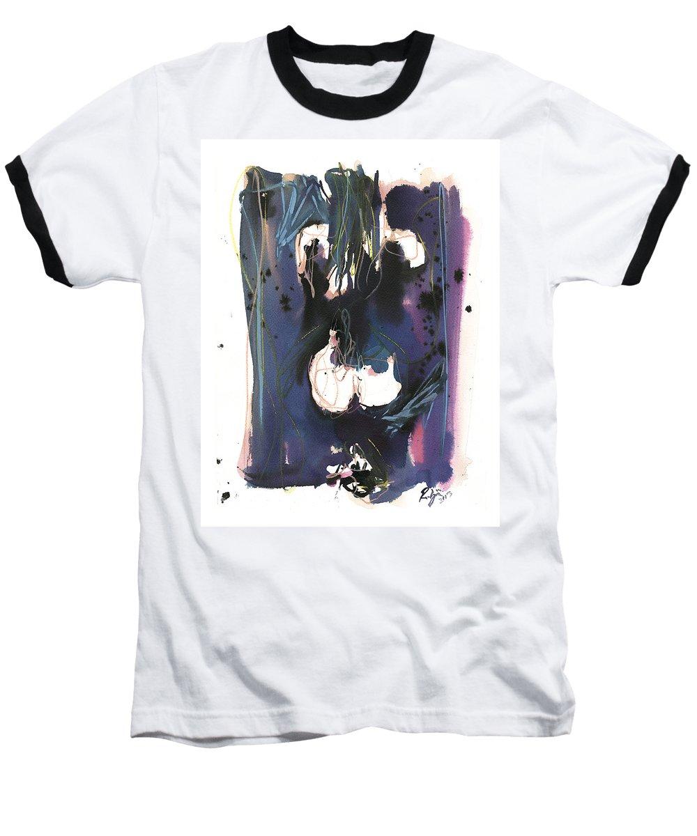 Figure Baseball T-Shirt featuring the painting Kneeling by Robert Joyner