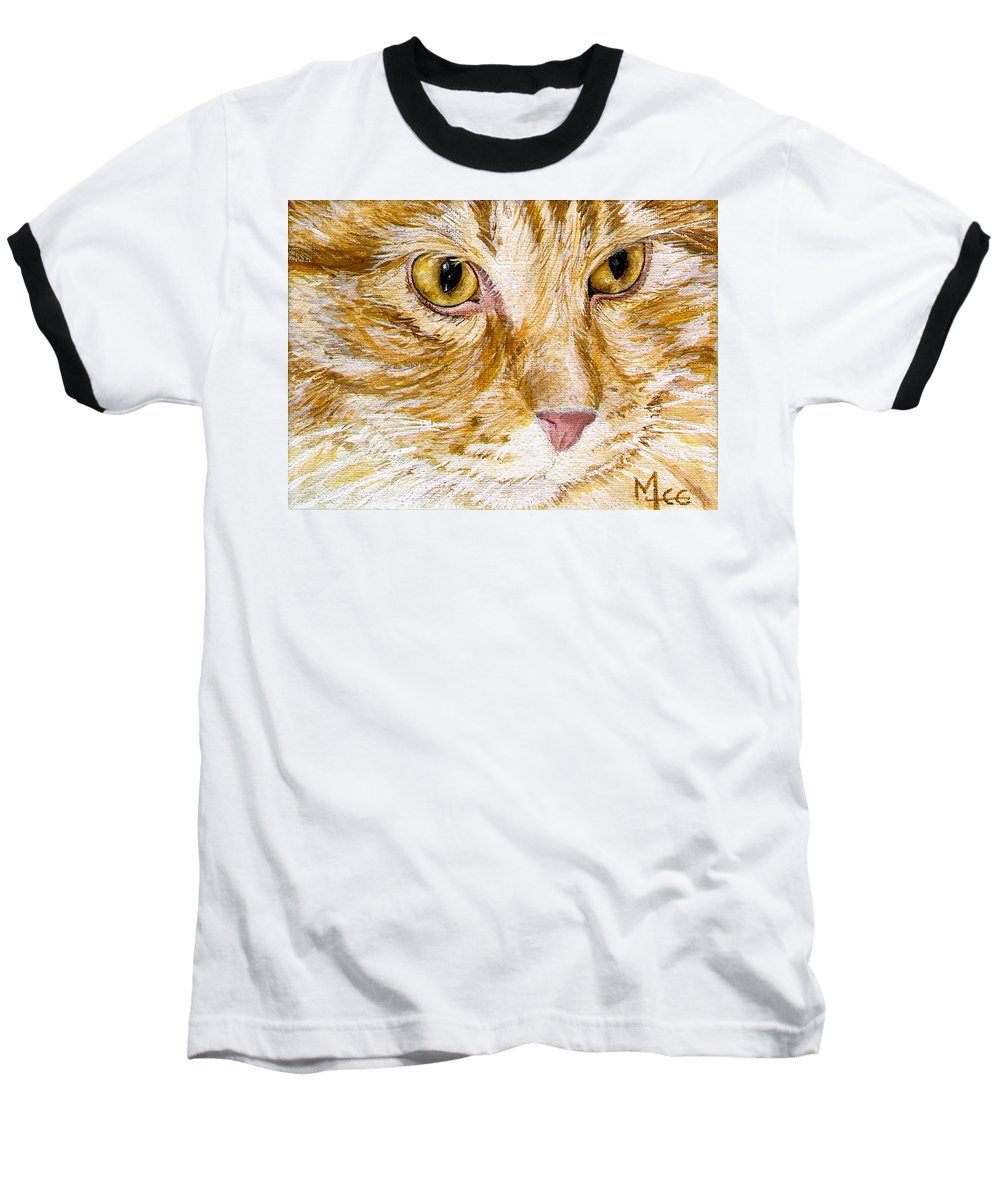 Charity Baseball T-Shirt featuring the painting Leo by Mary-Lee Sanders