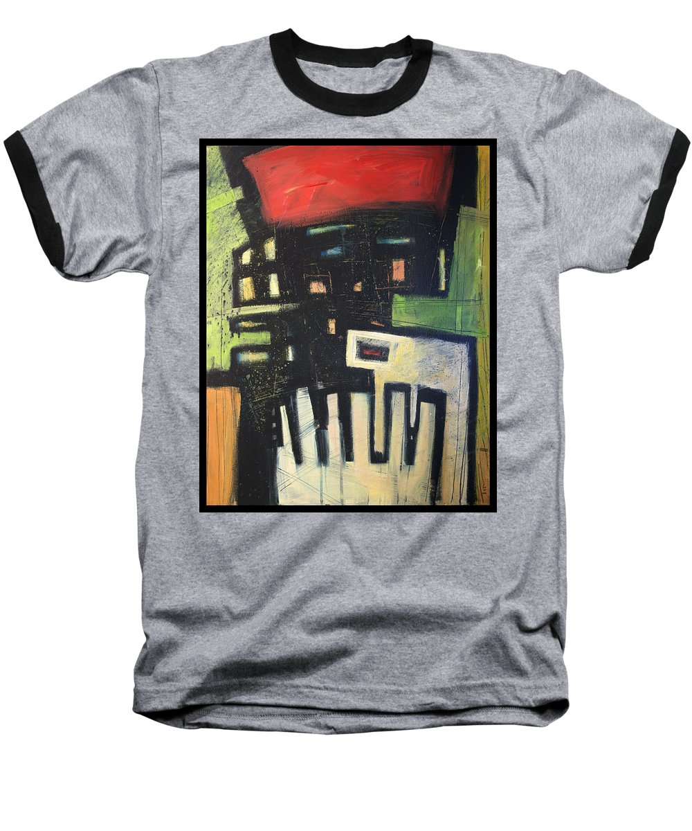 Abstract Baseball T-Shirt featuring the painting D Flat by Tim Nyberg
