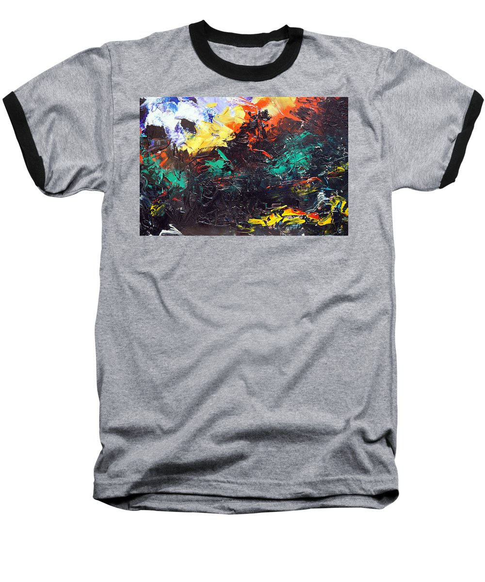 Vision Baseball T-Shirt featuring the painting Schizophrenia by Sergey Bezhinets