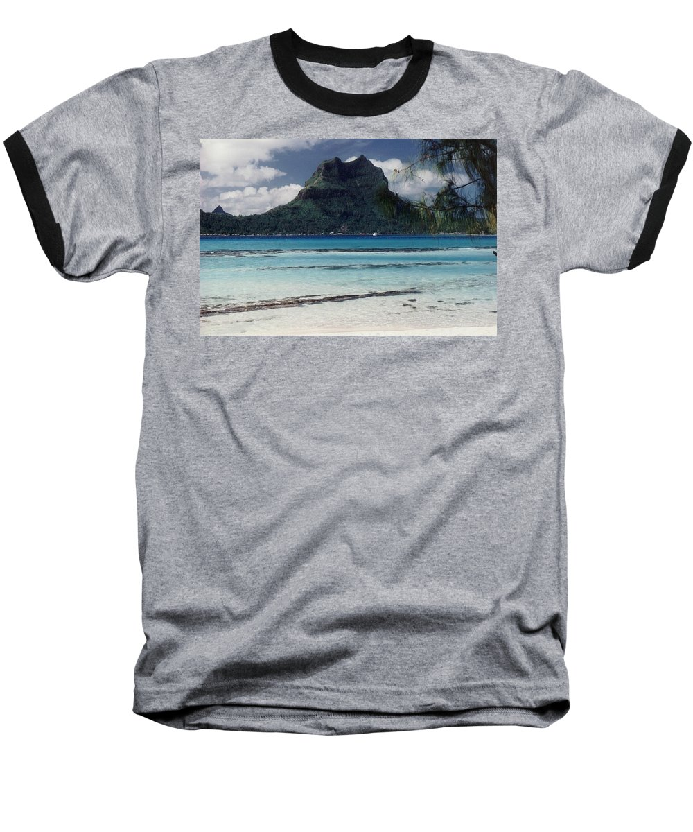 Charity Baseball T-Shirt featuring the photograph Bora Bora by Mary-Lee Sanders