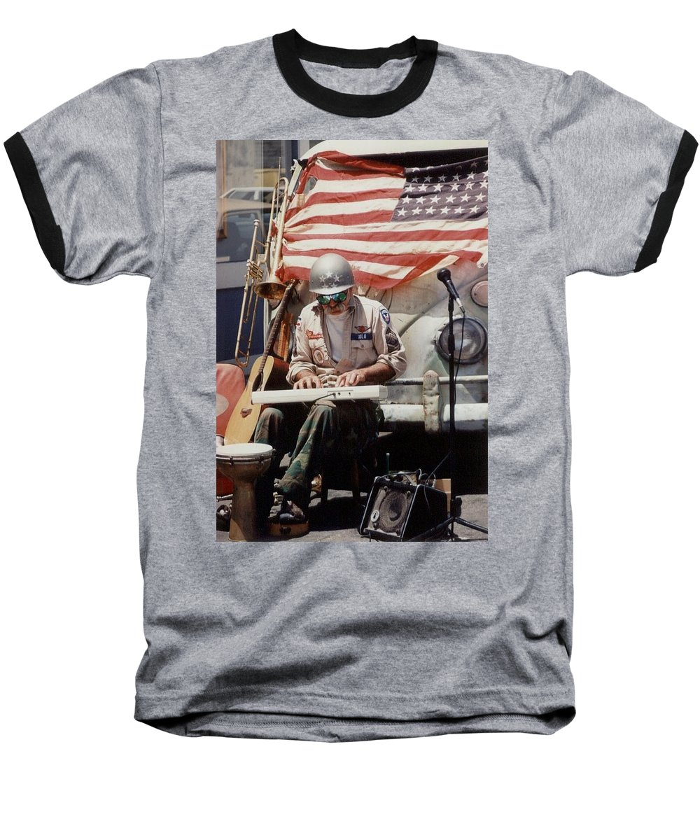 Charity Baseball T-Shirt featuring the photograph Born In The Usa by Mary-Lee Sanders