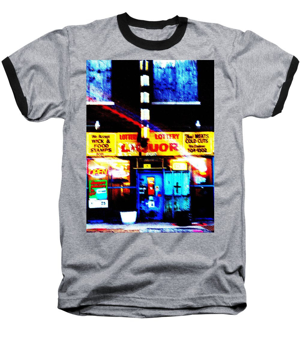 Store Baseball T-Shirt featuring the photograph Corner Store by Albert Stewart