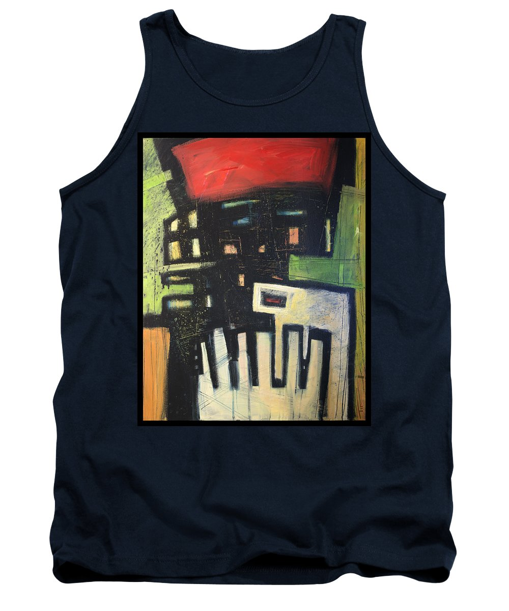 Abstract Tank Top featuring the painting D Flat by Tim Nyberg