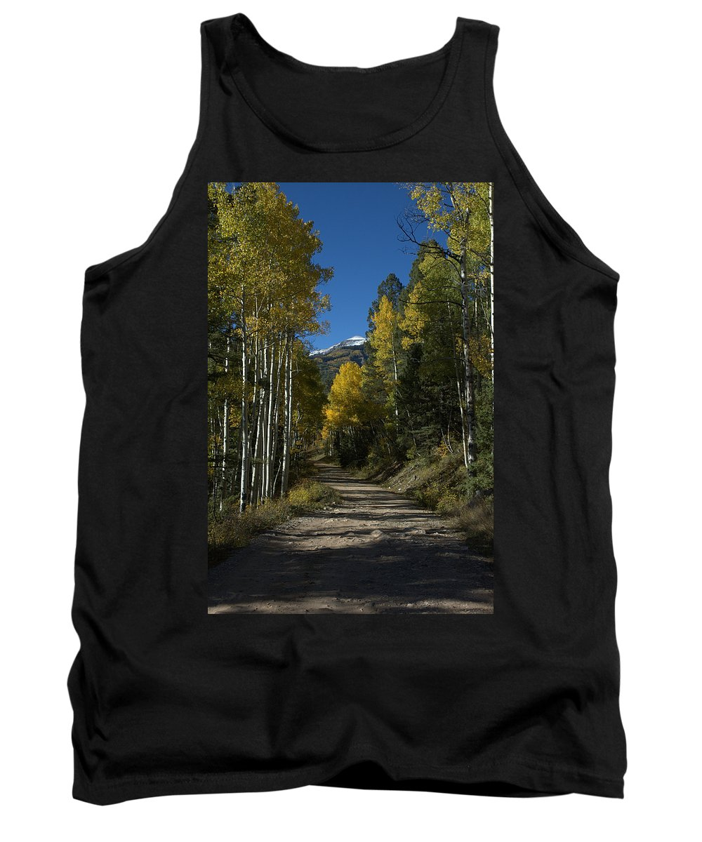 Aspen Tank Top featuring the photograph Aspen Lane by Jerry McElroy