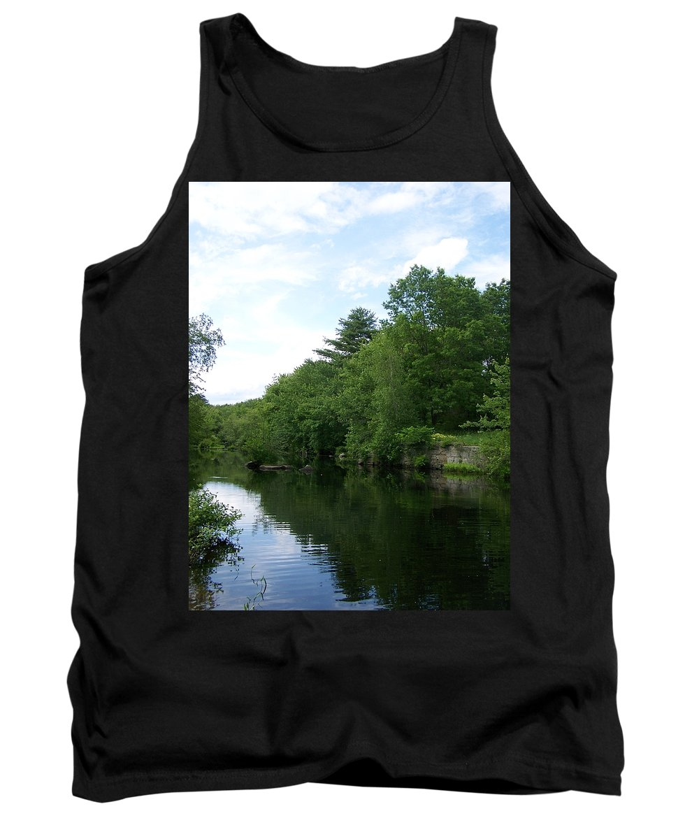 Clear River Tank Top featuring the photograph Clear River 1 by Erin Rosenblum