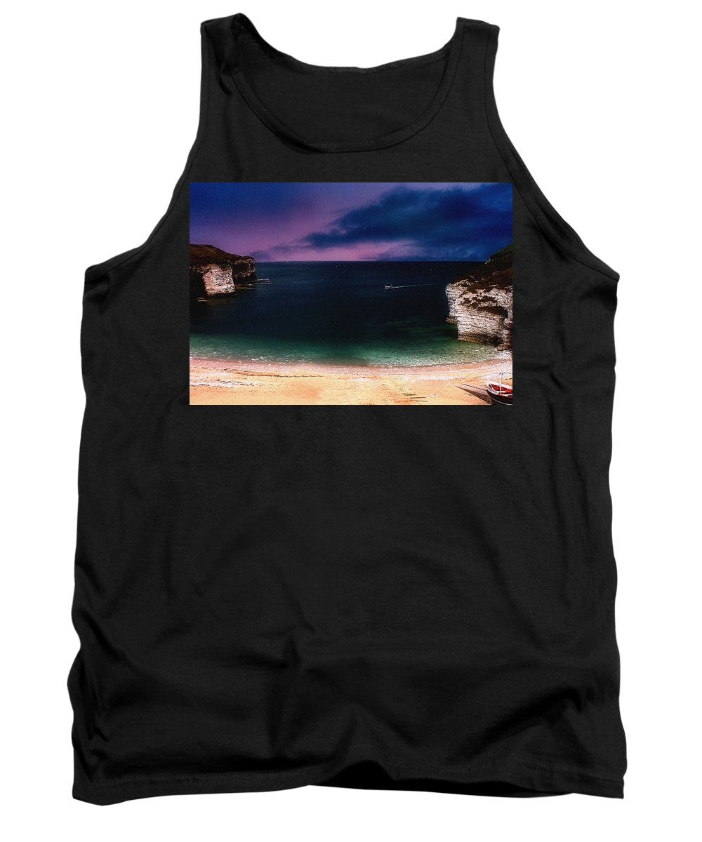 Sunset Tank Top featuring the photograph Evening On The Headland by Cliff Norton