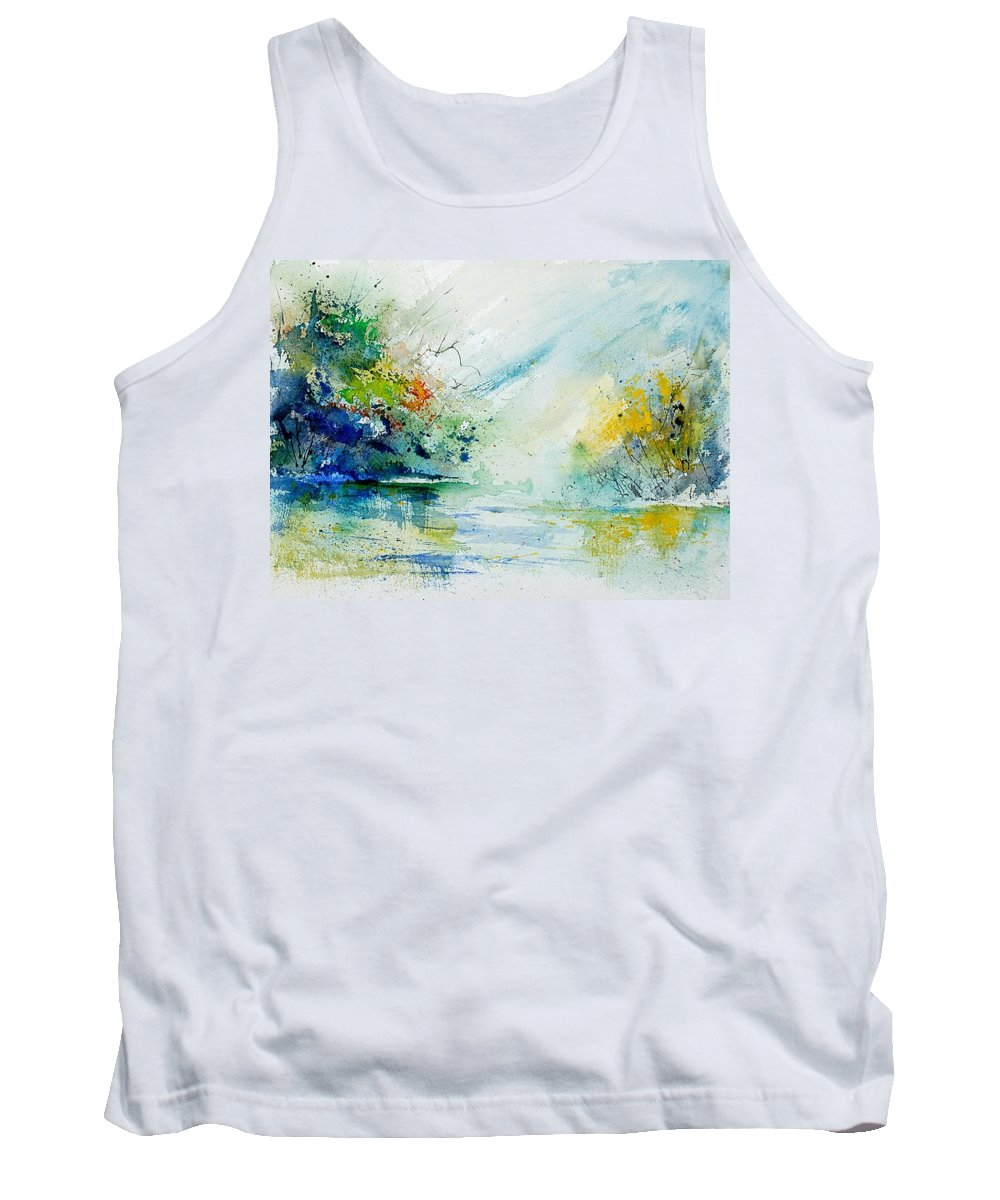 Water Tank Top featuring the painting Watercolor 903022 by Pol Ledent