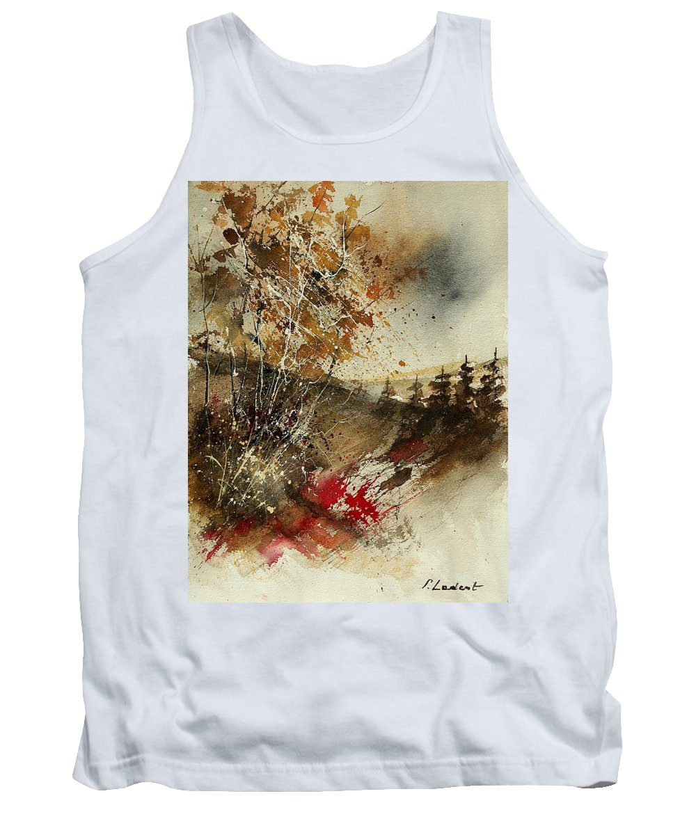 Tree Tank Top featuring the painting Watercolor 903052 by Pol Ledent