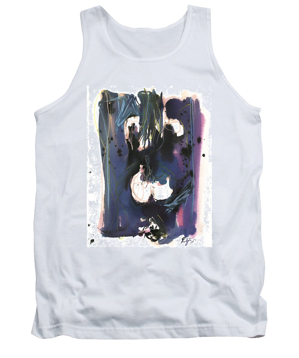 Figure Tank Top featuring the painting Kneeling by Robert Joyner
