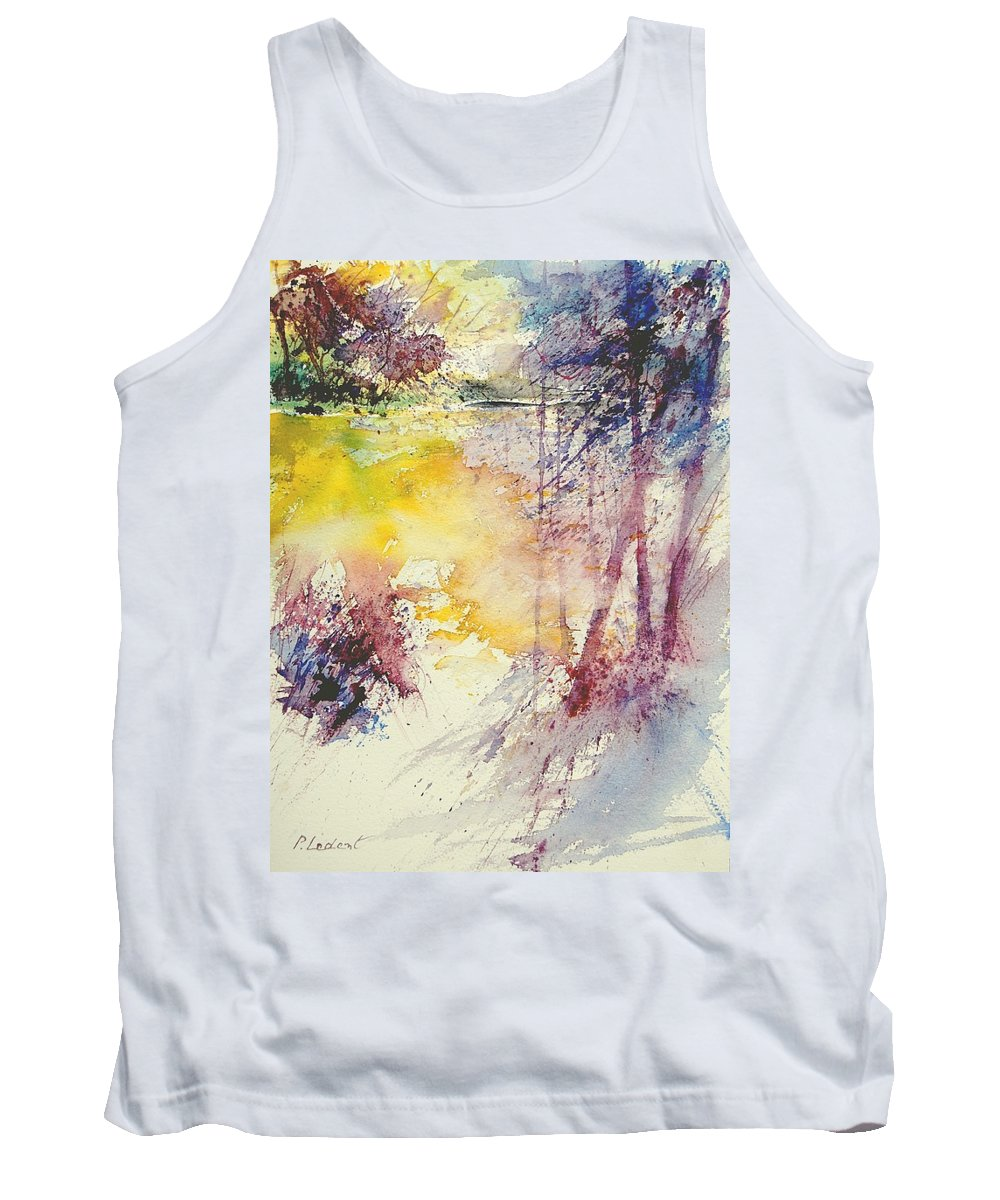 River Tank Top featuring the painting Watercolor 007 by Pol Ledent