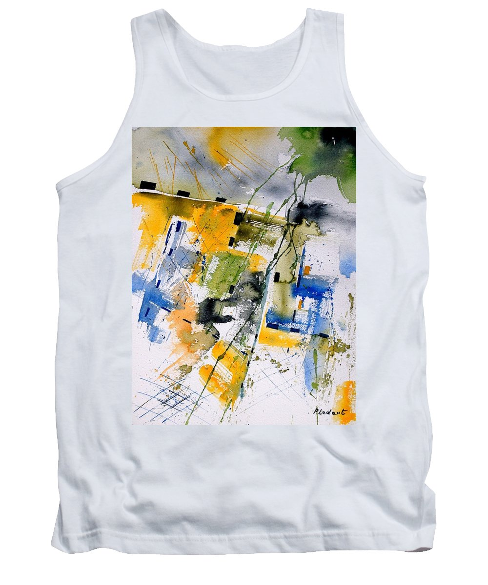 Abstract Tank Top featuring the painting Watercolor 161106 by Pol Ledent