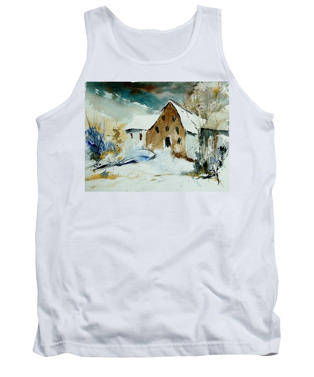 Winter Tank Top featuring the painting Watercolor 9696 by Pol Ledent