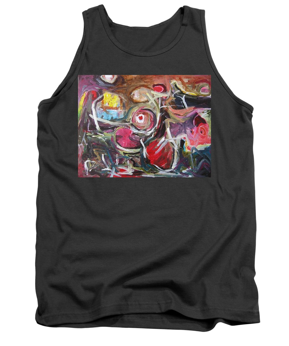 Abstract Paintings Tank Top featuring the painting Abandoned Ideas3 by Seon-Jeong Kim