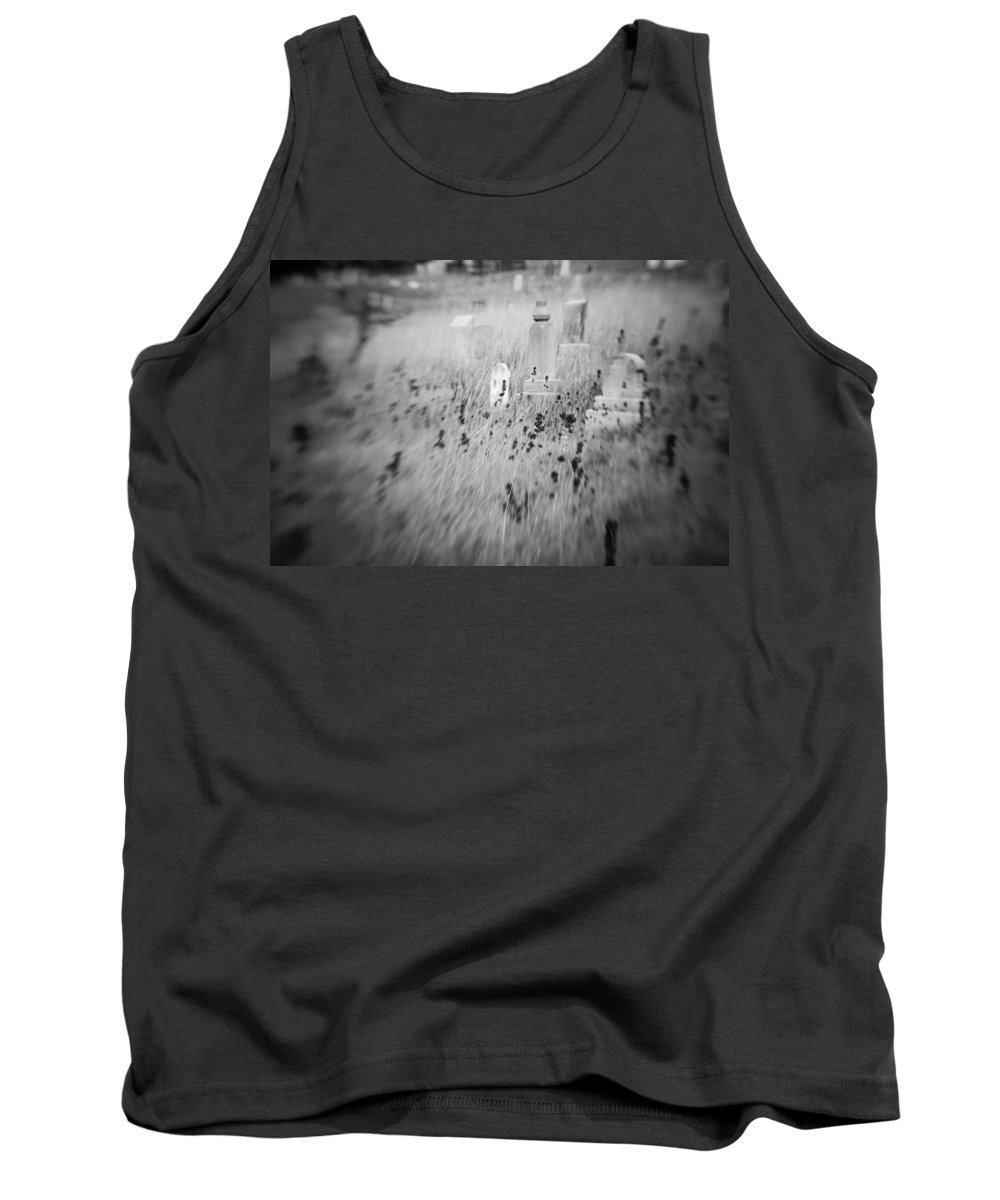 B&w Tank Top featuring the photograph Graveyard 6793 by Timothy Bischoff