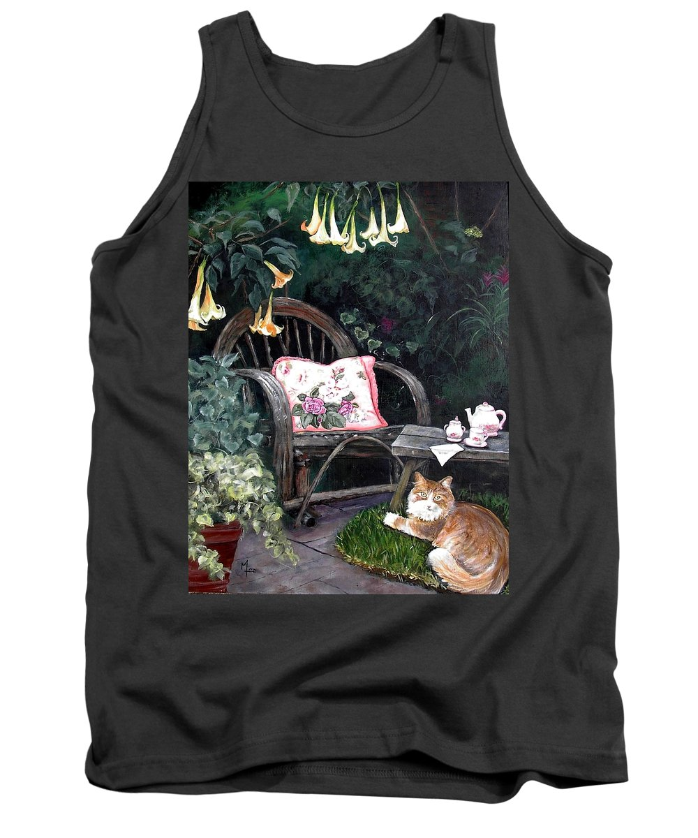 Charity Tank Top featuring the painting My Secret Garden by Mary-Lee Sanders