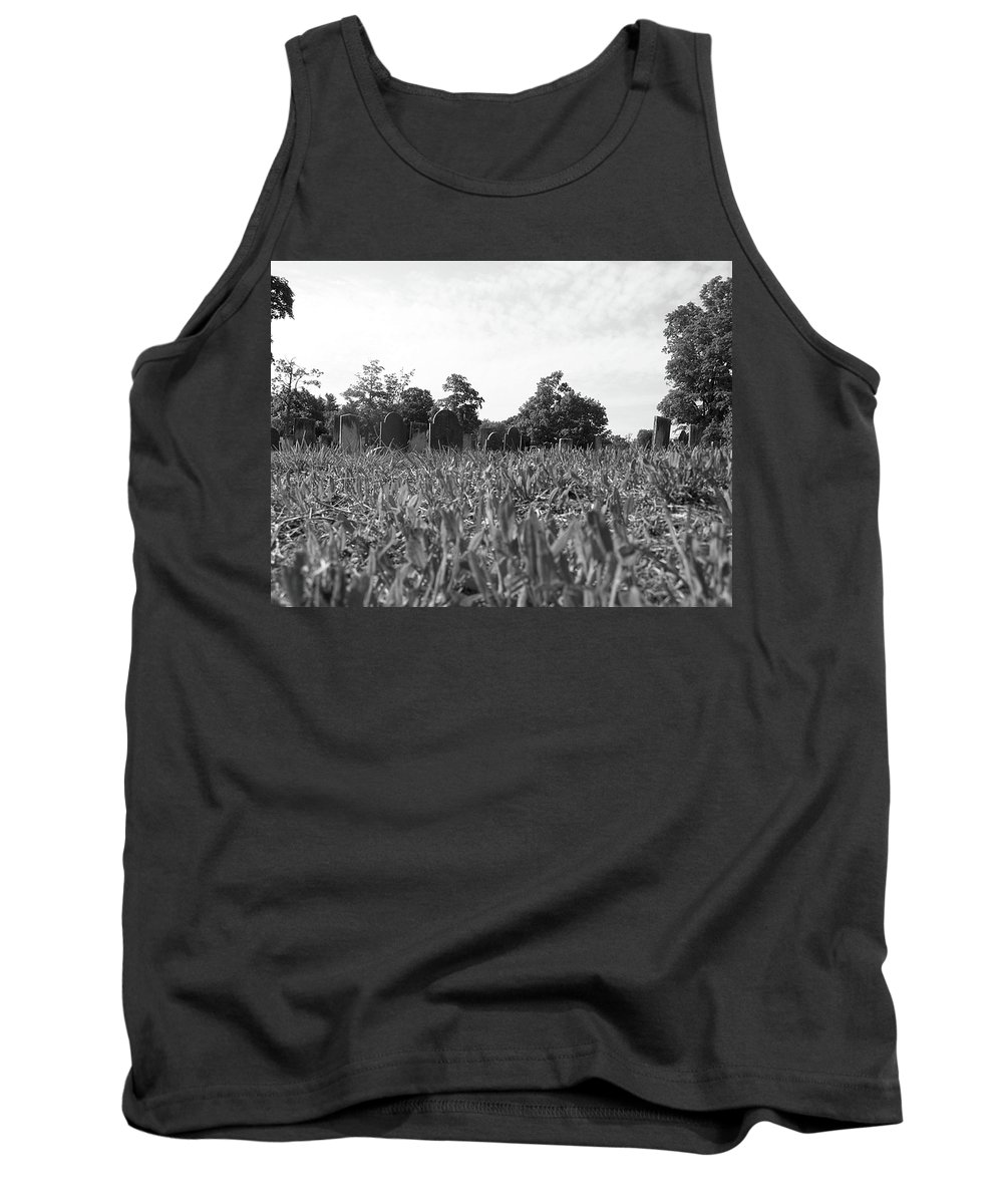 Scenic Tank Top featuring the photograph Sprouting Stones by Erin Rosenblum