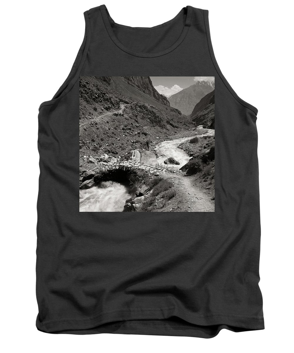 Active Tank Top featuring the photograph The Crossing by Konstantin Dikovsky