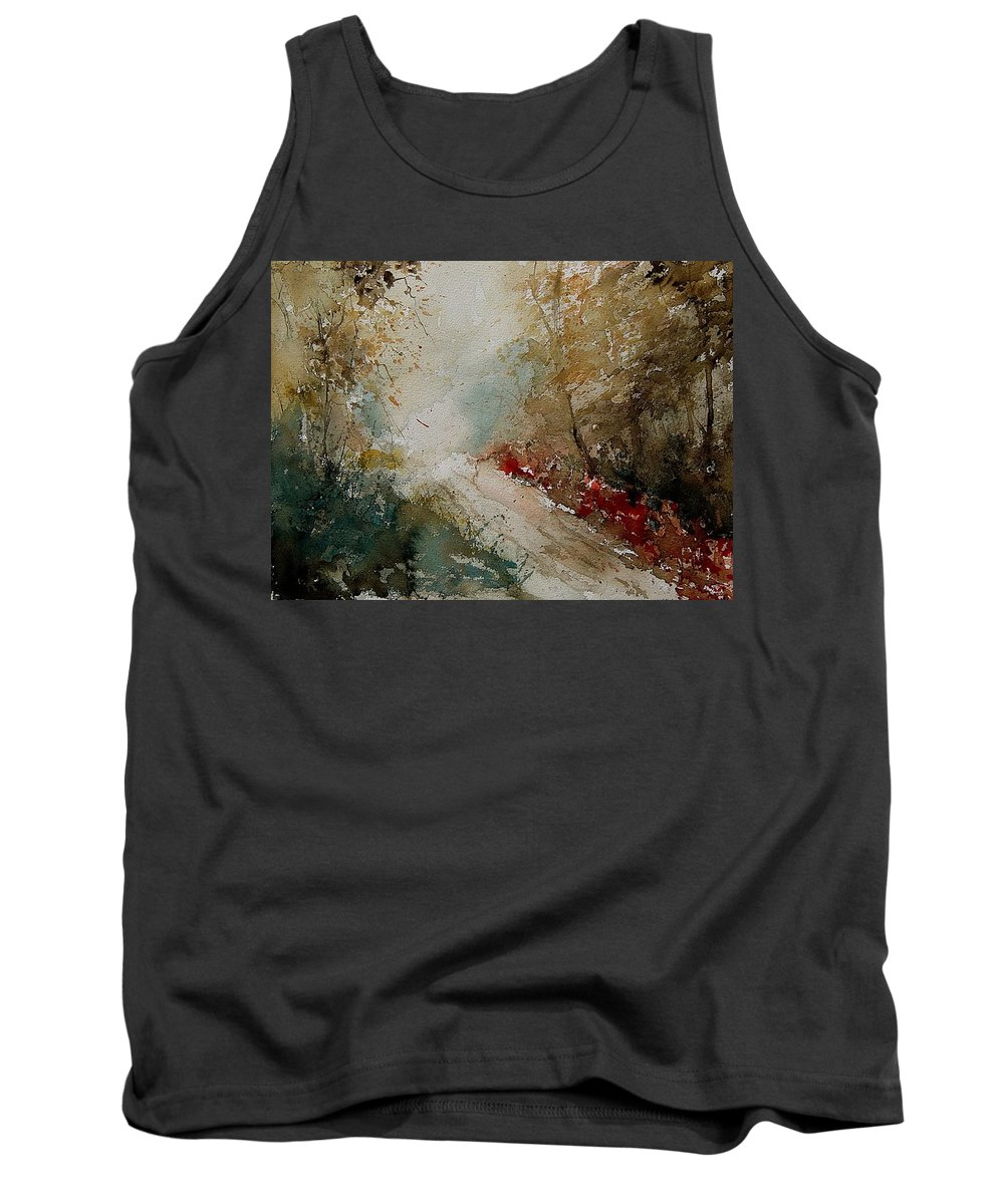 Tree Tank Top featuring the painting Watercolor 311005 by Pol Ledent