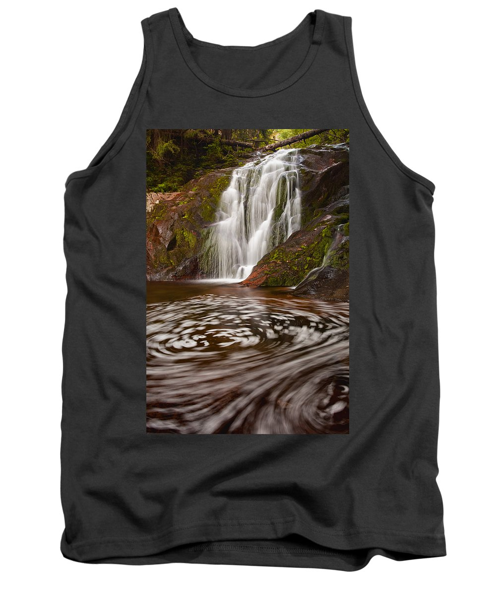 Mountain Tank Top featuring the photograph Waterfall Canyon by Evgeni Dinev