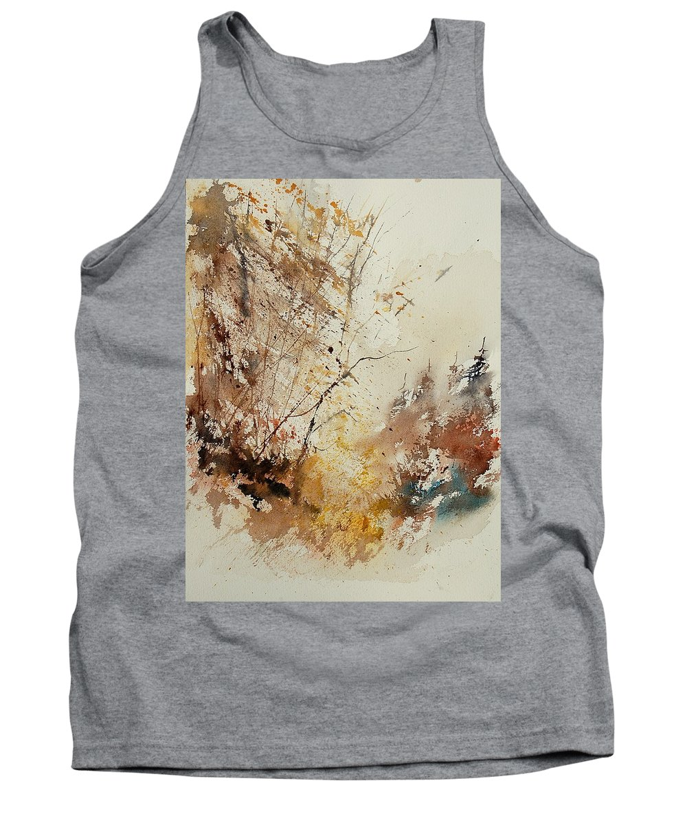 Tree Tank Top featuring the painting Watercolor 903012 by Pol Ledent