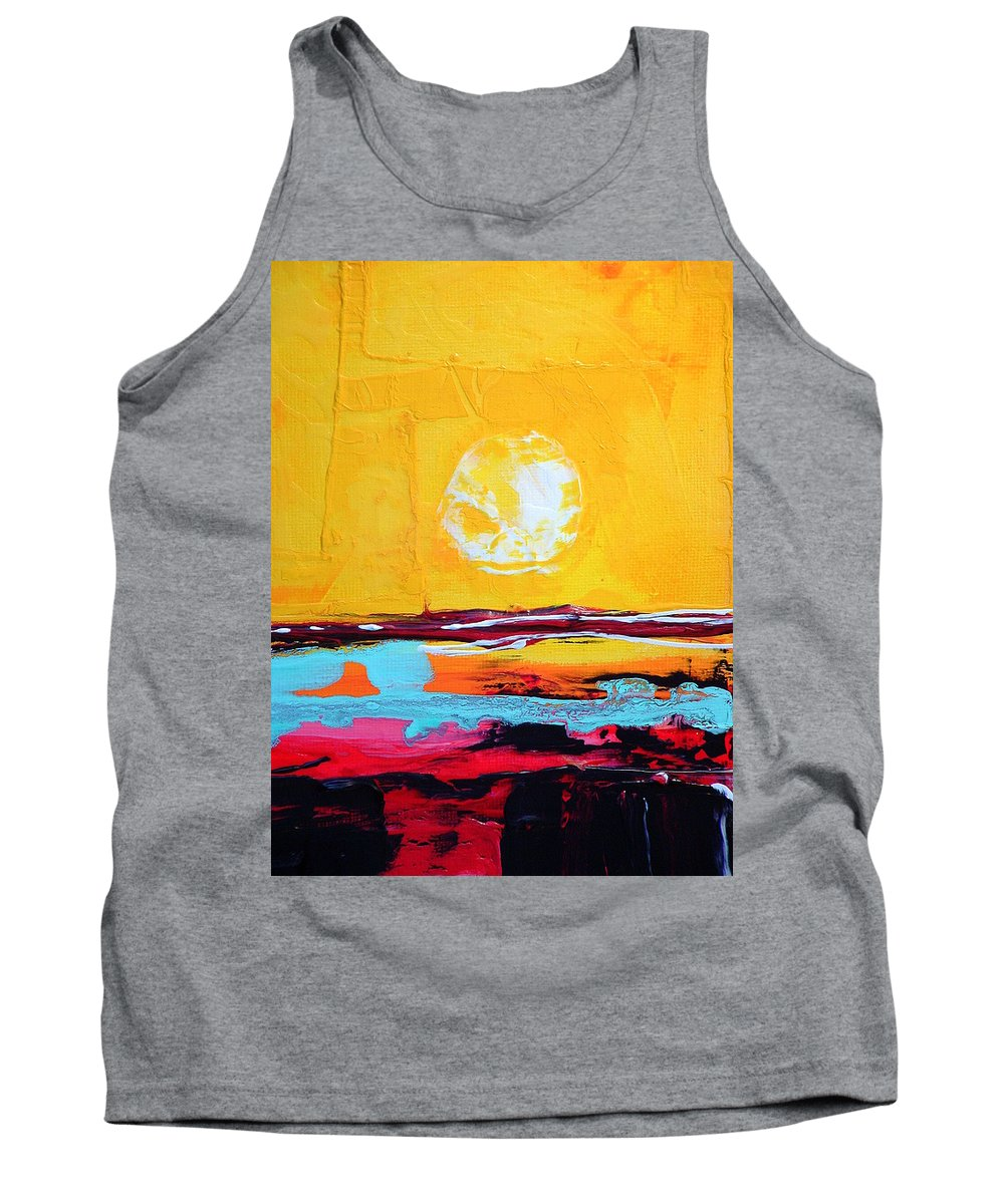 Abstract Art Tank Top featuring the painting My Space by Kathy Augustine