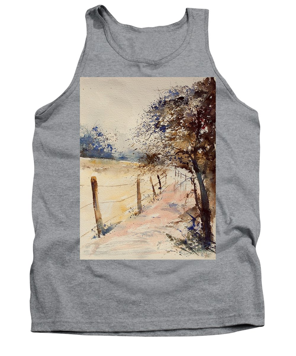 Tree Tank Top featuring the painting Watercolor 041106 by Pol Ledent