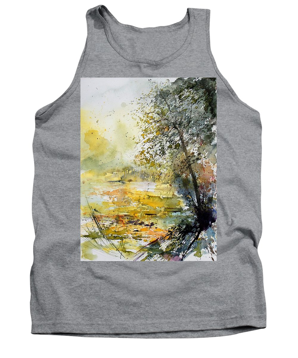 Water Tank Top featuring the painting Watercolor 050906 by Pol Ledent