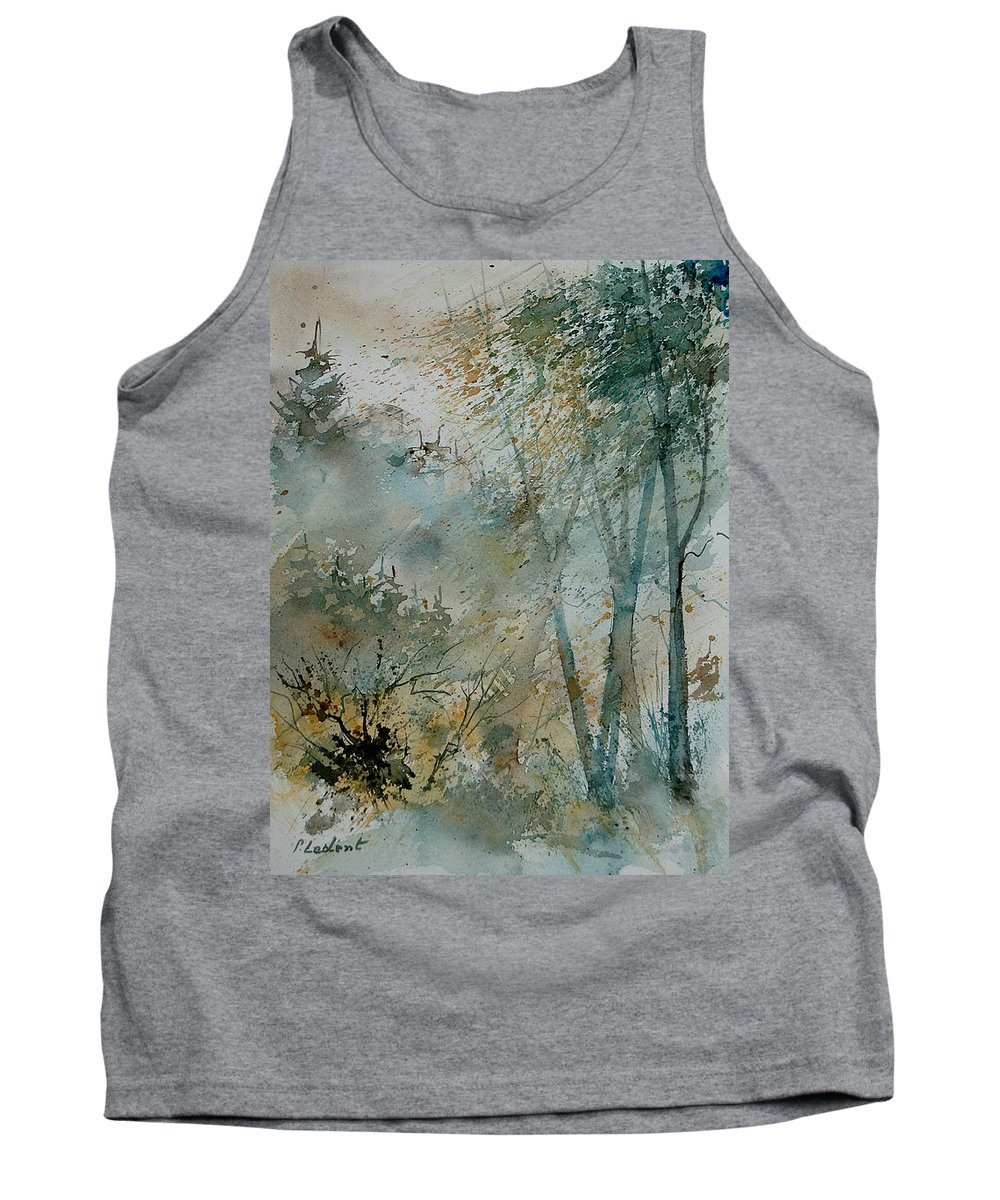 Tree Tank Top featuring the painting Watercolor 051008 by Pol Ledent