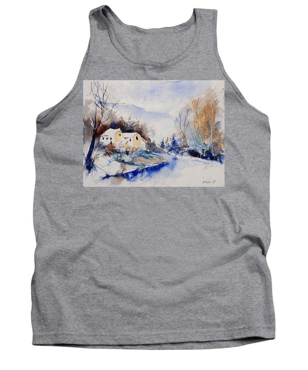 Winter Tank Top featuring the painting Watercolor 080408 by Pol Ledent