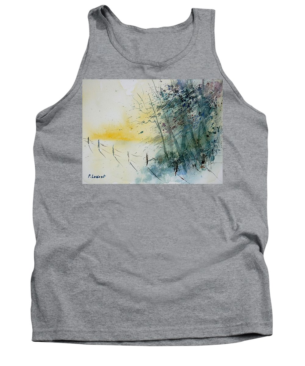 Winter Tank Top featuring the painting Watercolor 080708 by Pol Ledent