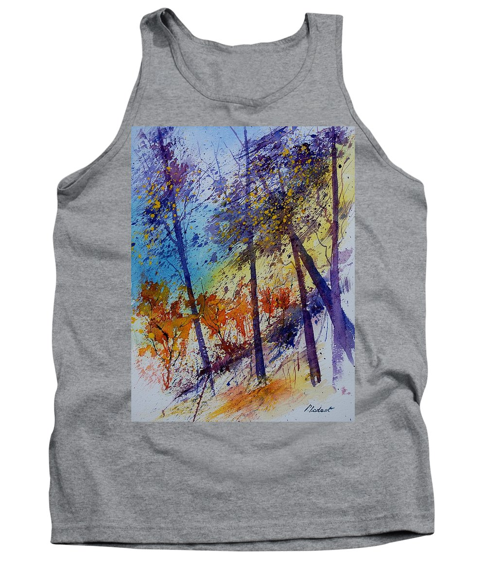 Spring Tank Top featuring the painting Watercolor 131108 by Pol Ledent