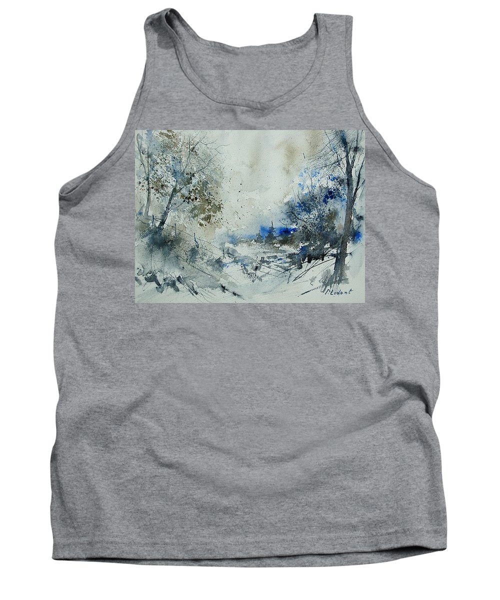Winter Tank Top featuring the painting Watercolor 210307 by Pol Ledent