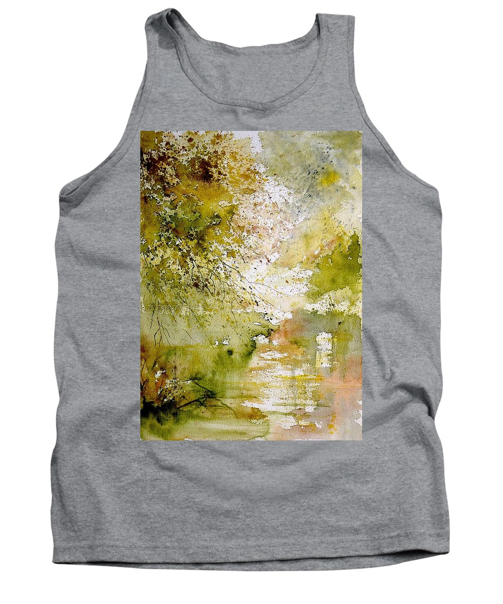 Water Tank Top featuring the painting Watercolor 211005 by Pol Ledent