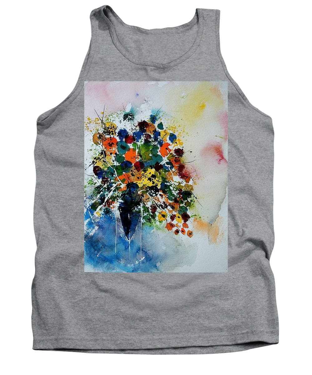 Flowers Tank Top featuring the painting Watercolor 220407 by Pol Ledent