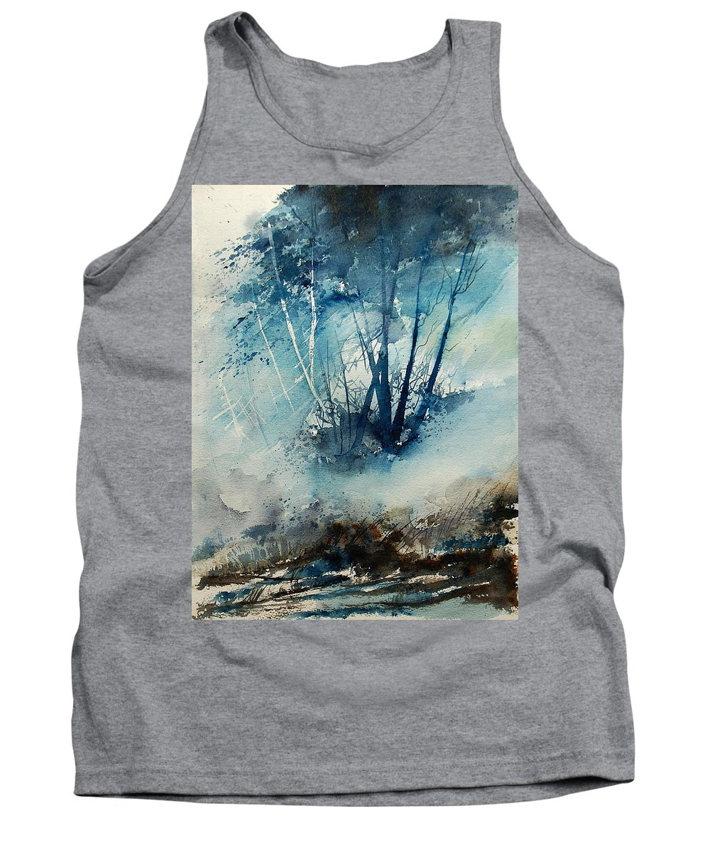 Tree Tank Top featuring the painting Watercolor 230907 by Pol Ledent