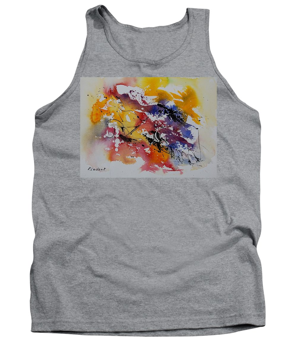 Abstract Tank Top featuring the painting Watercolor 902022 by Pol Ledent