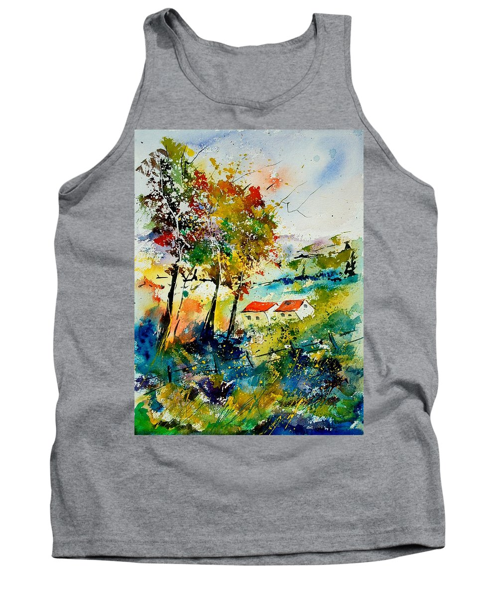 Poppies Tank Top featuring the painting Watercolor 903001 by Pol Ledent