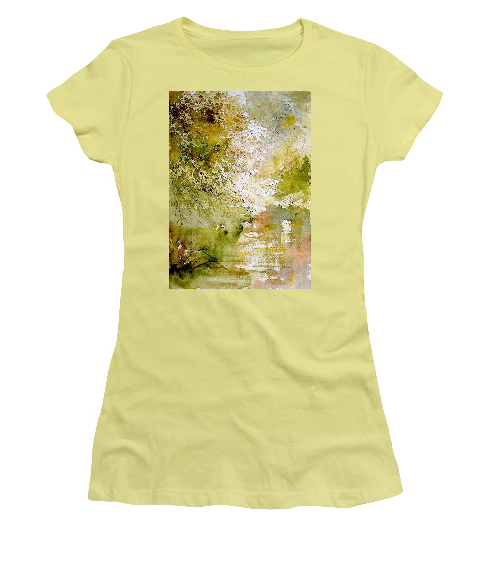 Water Women's T-Shirt (Athletic Fit) featuring the painting Watercolor 211005 by Pol Ledent