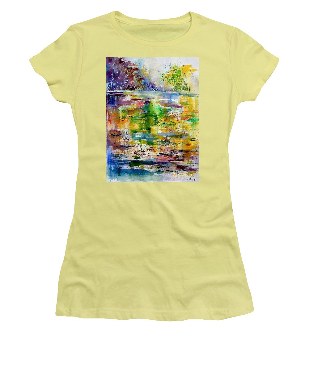 Water Women's T-Shirt (Athletic Fit) featuring the painting Watercolor 6878 by Pol Ledent