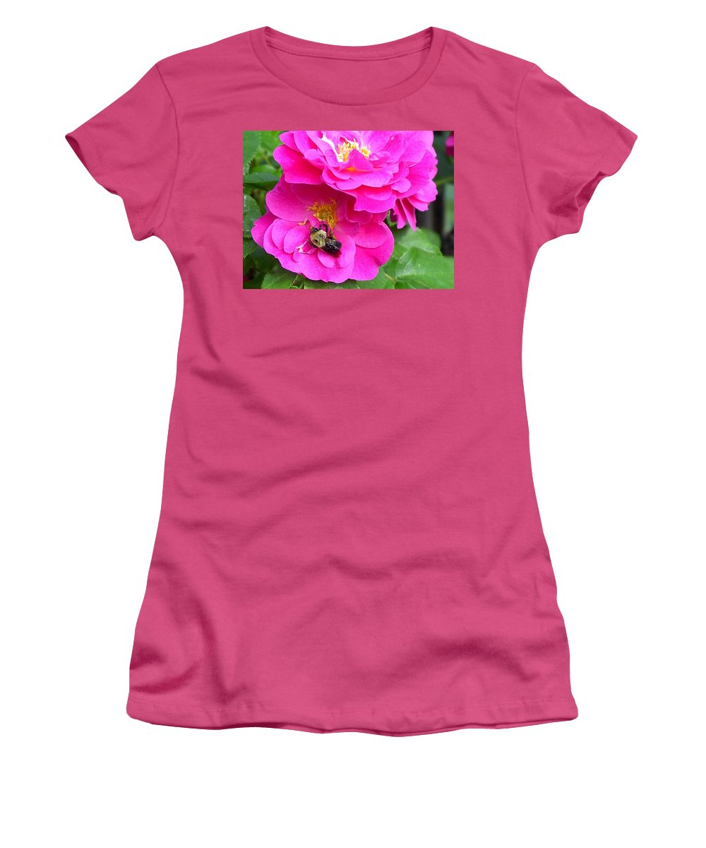 Charity Women's T-Shirt (Athletic Fit) featuring the photograph Jc And Bee by Mary-Lee Sanders