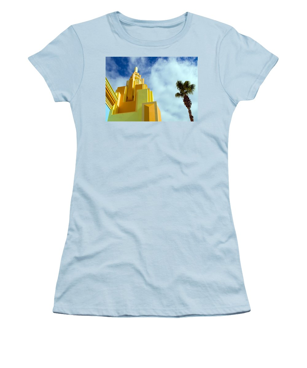 Cocoa; Beach; Florida; Brevard; East; Space; Coast; Ron; Jon; Surf; Shop; Surfing; Surfer; Waves; Br Women's T-Shirt (Athletic Fit) featuring the photograph Ron Jon Cocoa Beach Florida by Allan Hughes