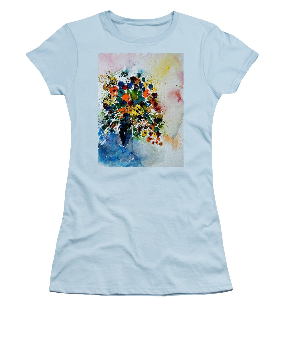 Flowers Women's T-Shirt (Athletic Fit) featuring the painting Watercolor 220407 by Pol Ledent