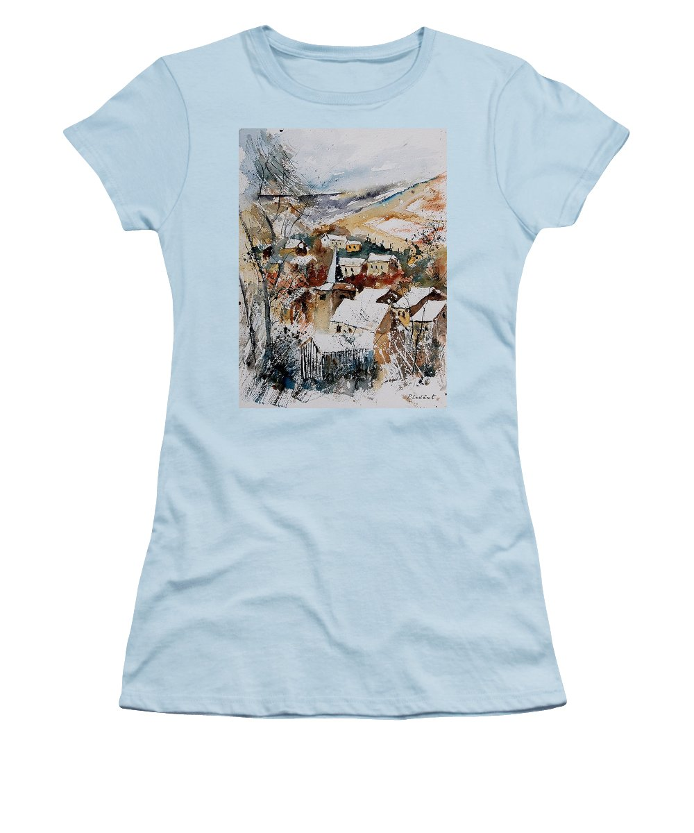 Winter Women's T-Shirt (Athletic Fit) featuring the painting Watercolor 904002 by Pol Ledent
