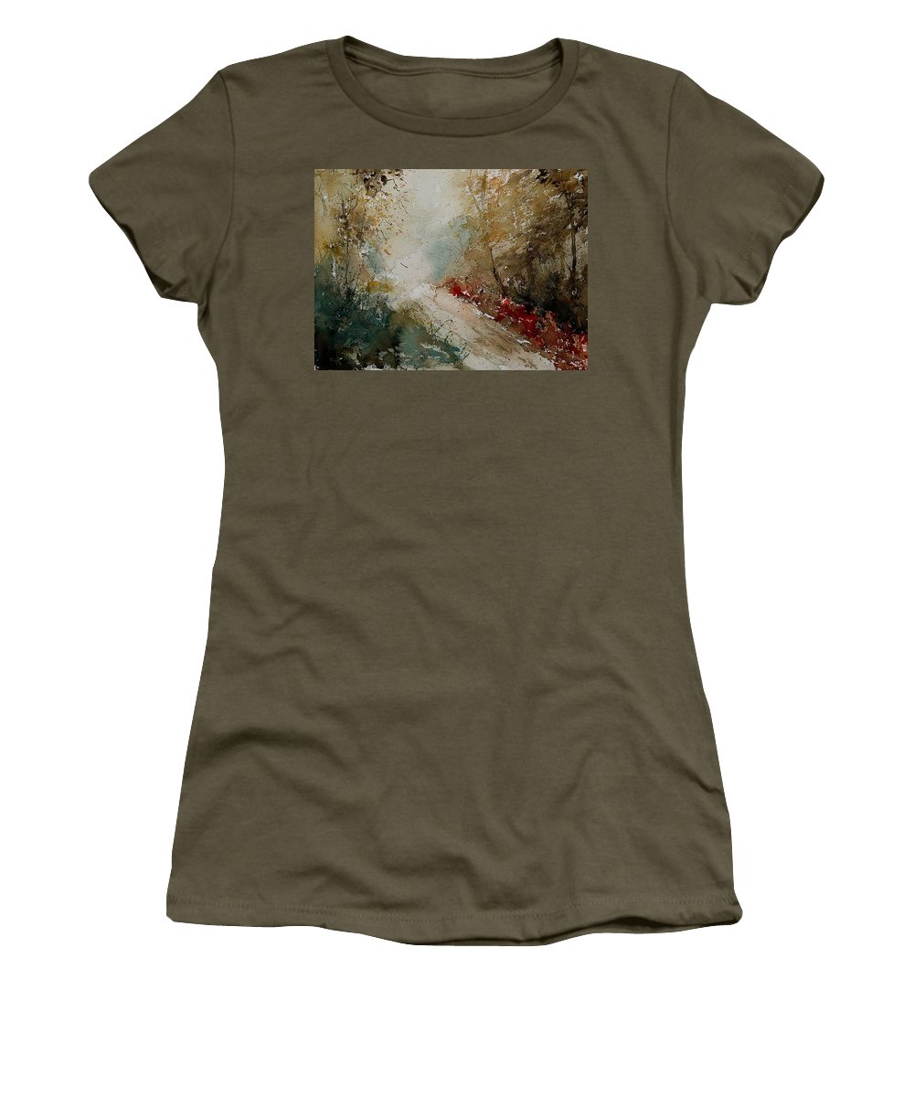 Tree Women's T-Shirt (Athletic Fit) featuring the painting Watercolor 311005 by Pol Ledent